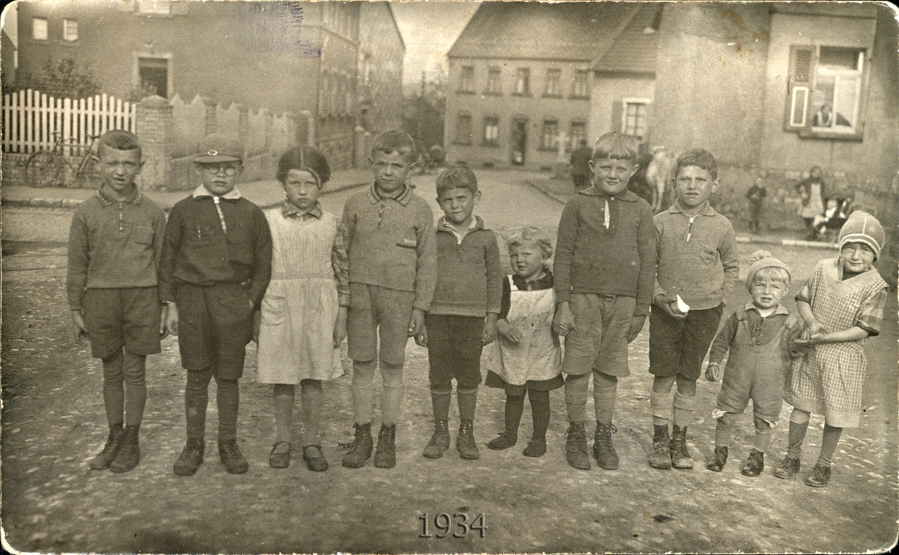 Kinder 1934 Fabrikstraße/Ludwigstraße