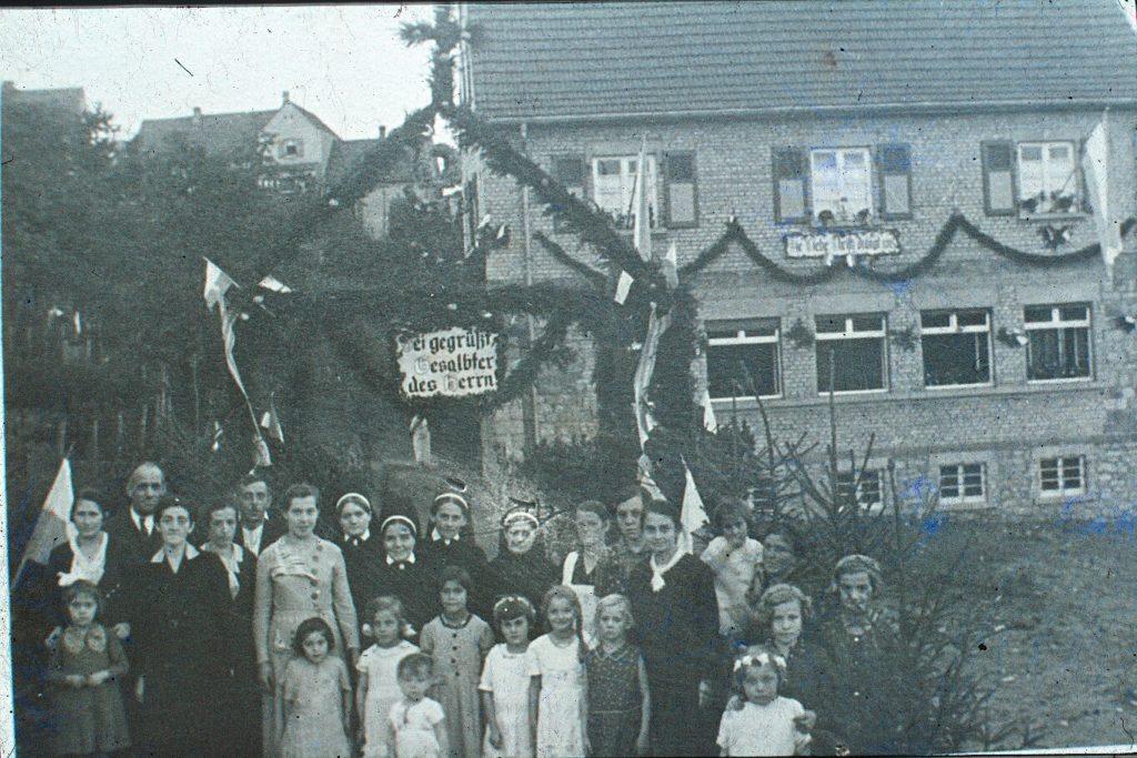 1935 Einweihung Vereinshaus