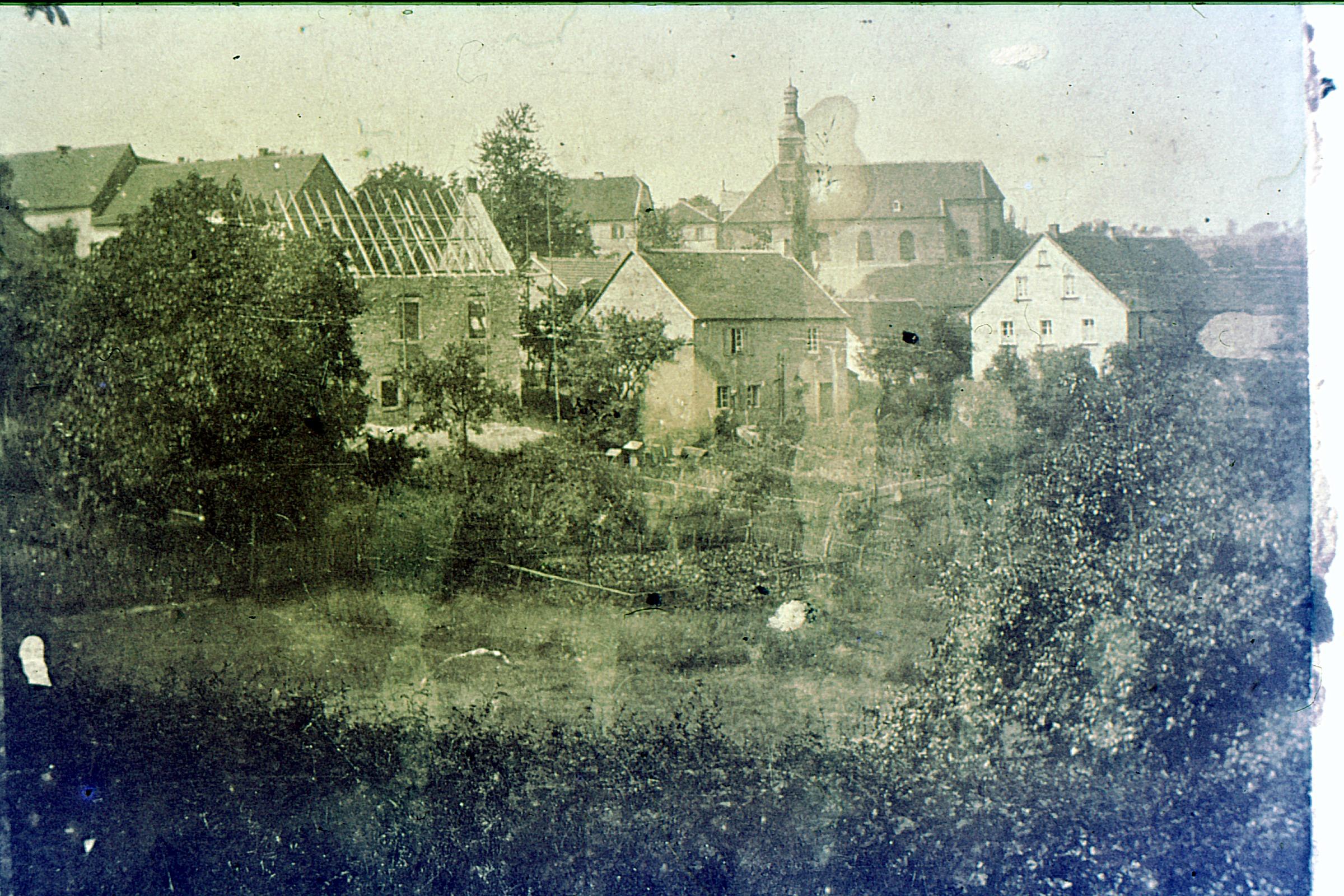 Ensheim Blick auf die Kirche 1893
