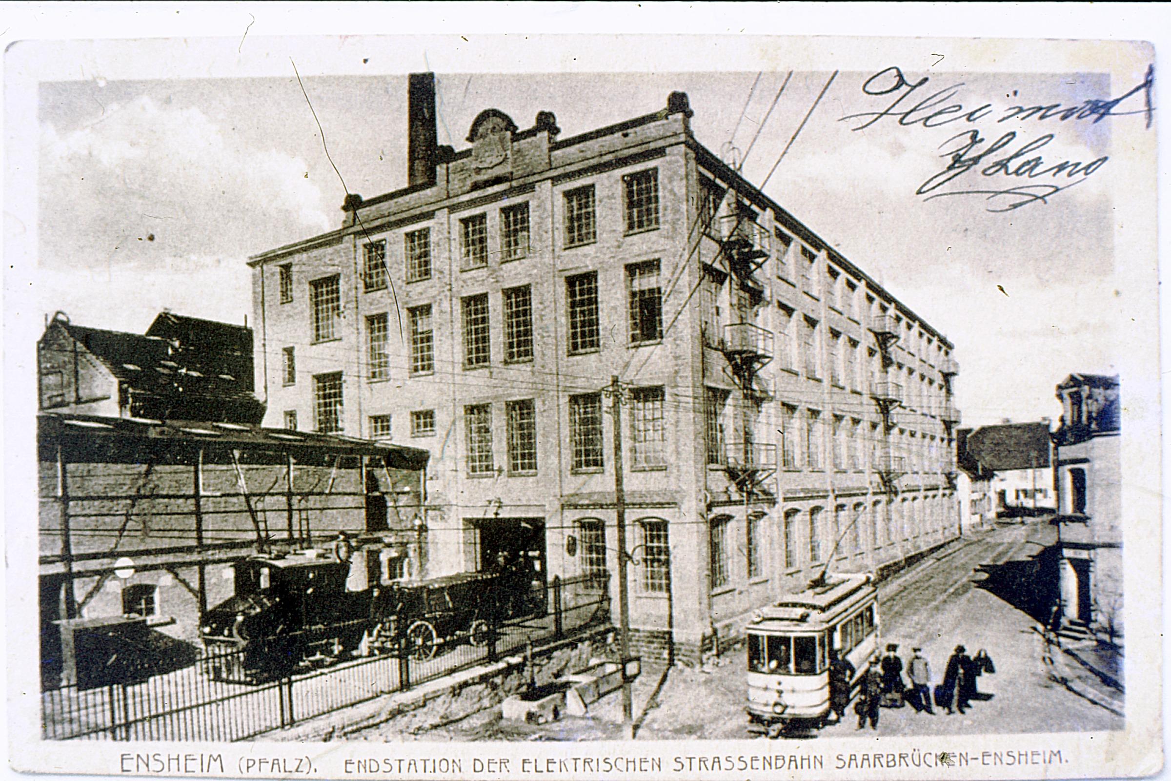 Endstation der elektrischen Straßenbahn