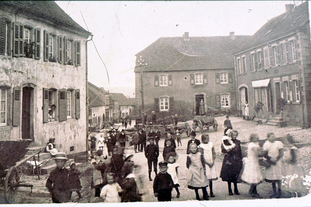 Hauptstraße mittendrin 1922