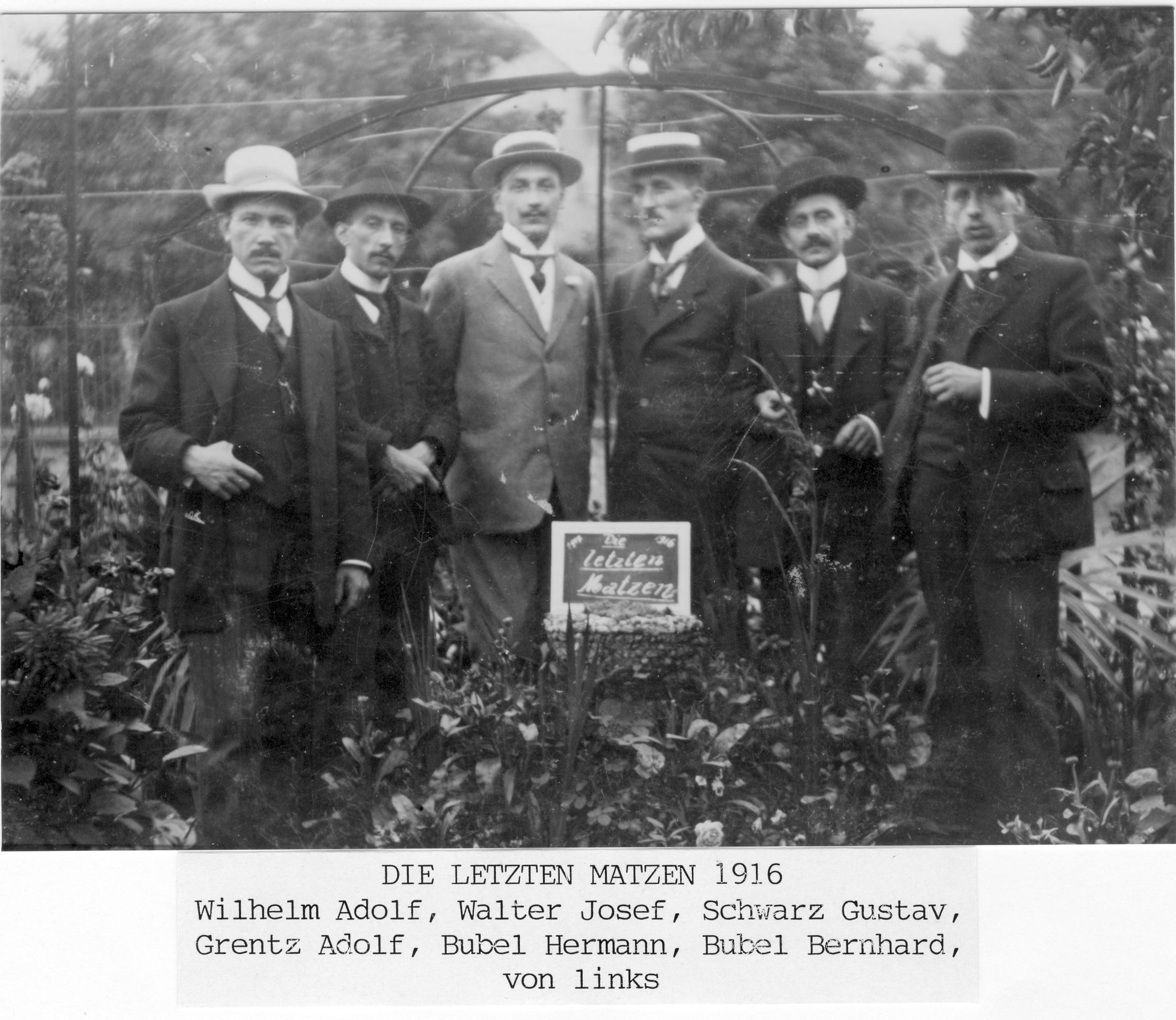 Die letzten Matzen 1916