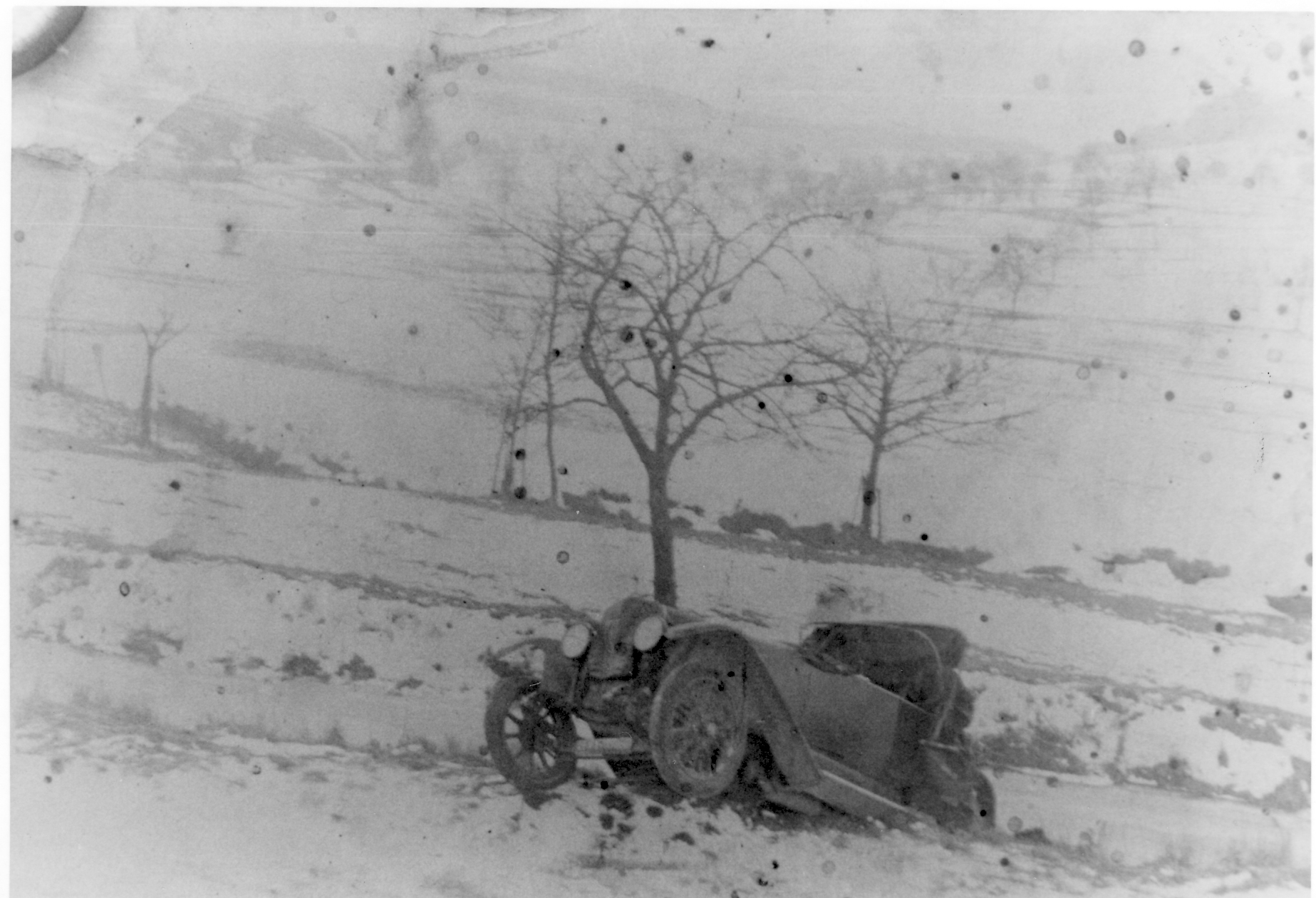 Autounfall im Winter